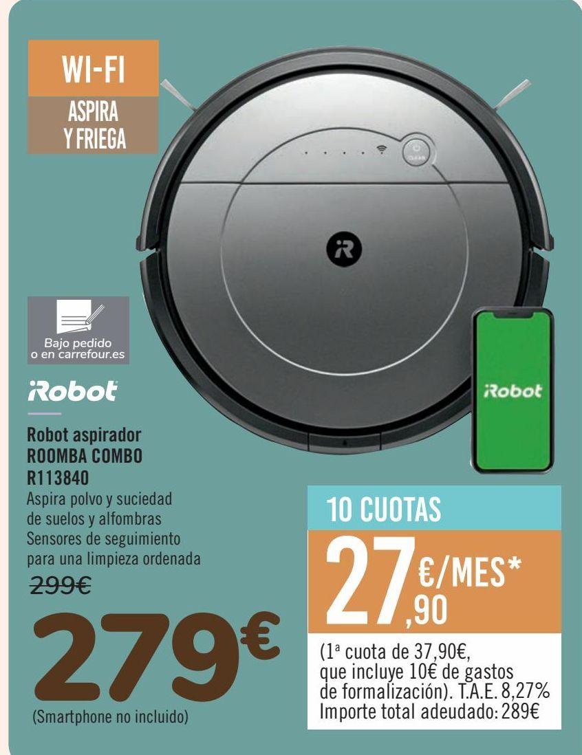 Oferta de IRobot Robot aspirador ROOMBA COMBO R113840  por 279€