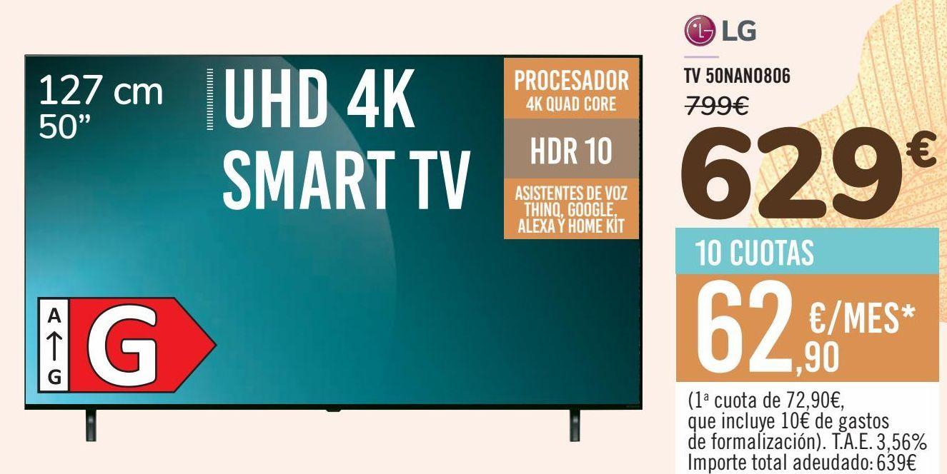 Oferta de LG TV 50NANO806 por 629€