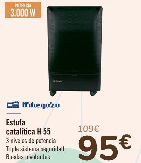 Oferta de Orbegozo estufa catalítica H 55  por 95€