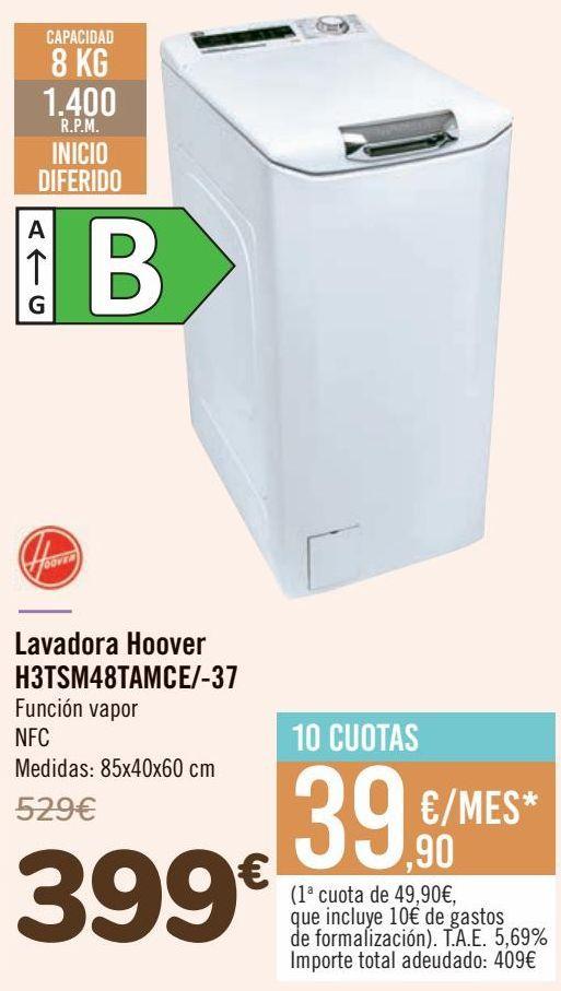 Oferta de Lavadora Hoover H3TSM48TAMCE/-37  por 399€