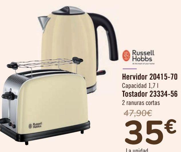 Oferta de Russel Hobbs Hervidor 20415-70 Tostador 23334-56  por 35€