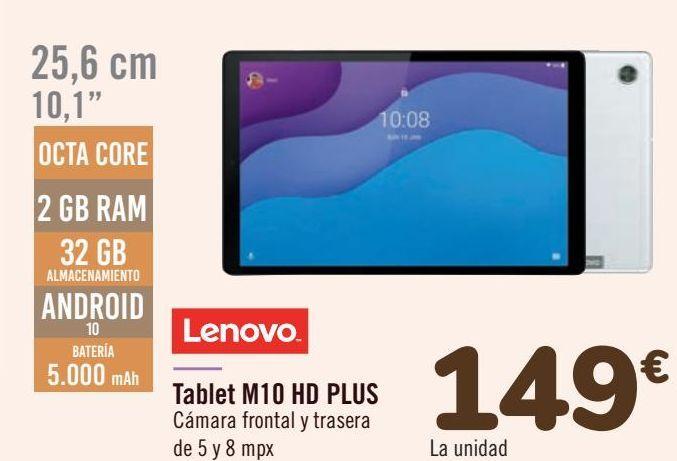 Oferta de Lenovo Tablet M10 HD PLUS por 149€