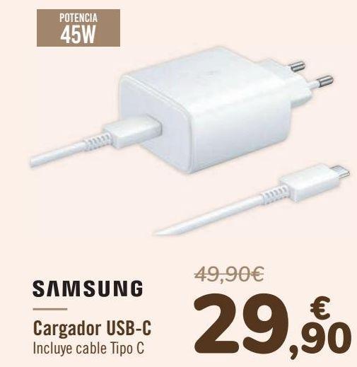 Oferta de SAMSUNG Cargador USB-C por 29,9€