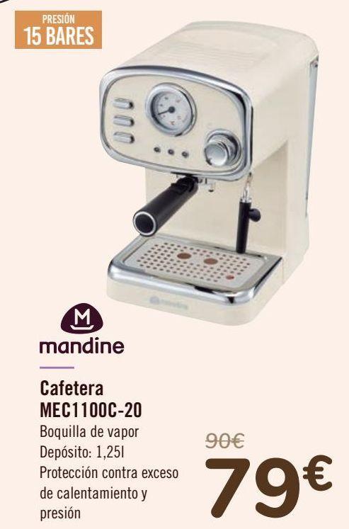Oferta de Mandine Cafetera MEC1100C-20 por 79€