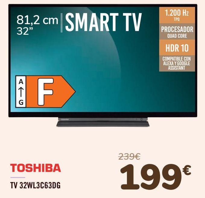 Oferta de TOSHIBA TV 32WL3C63DG  por 199€