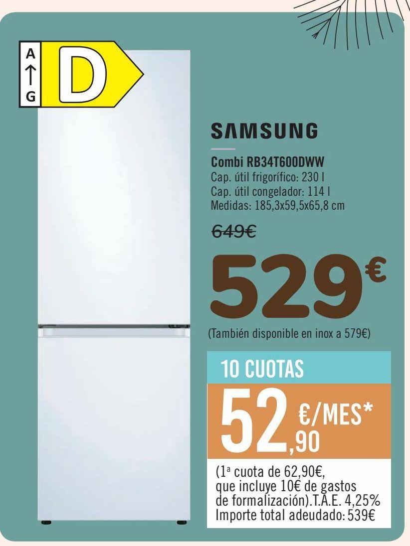 Oferta de SAMSUNG Combi RB34T600DWW por 529€
