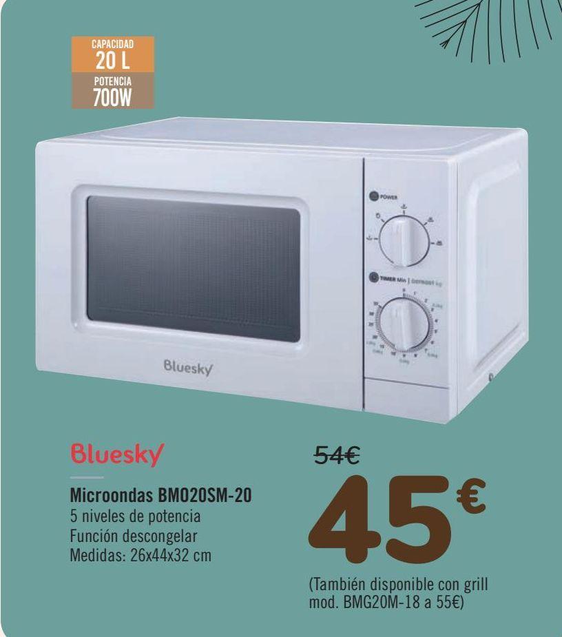 Oferta de Bluesky Microondas BM020SM-20  por 45€