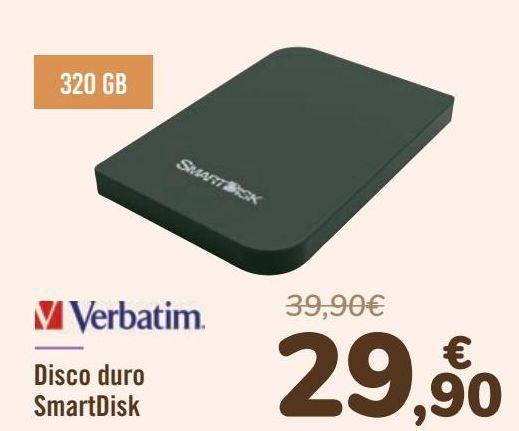 Oferta de Verbatim Disco duro SmartDisk por 29,9€