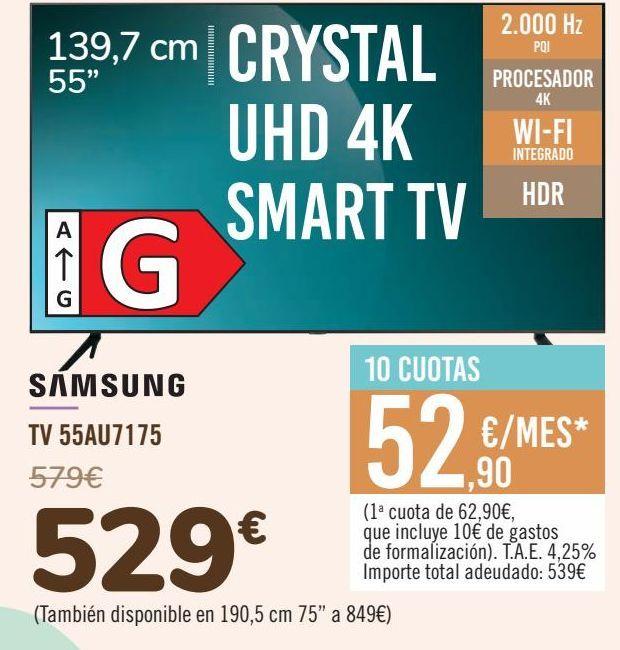 Oferta de SAMSUNG TV 55AU7175 por 529€