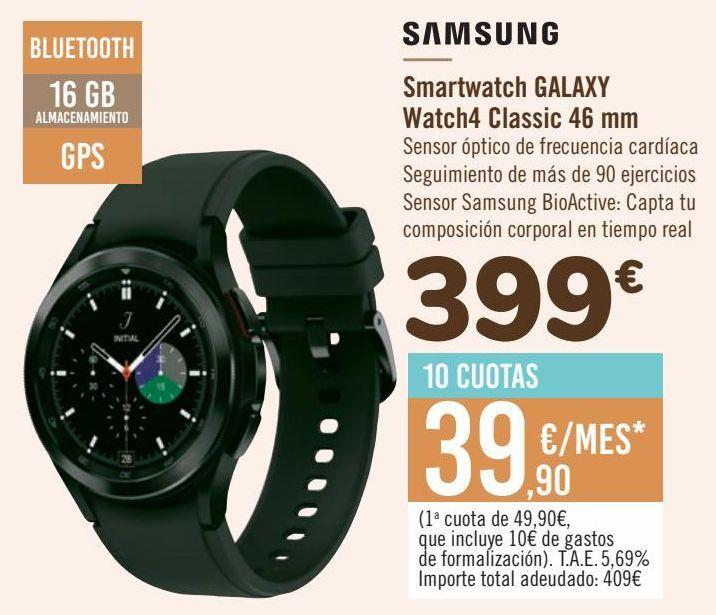 Oferta de SAMSUNG Smartwatch GALAXY Watch4 Classic 46 mm por 399€