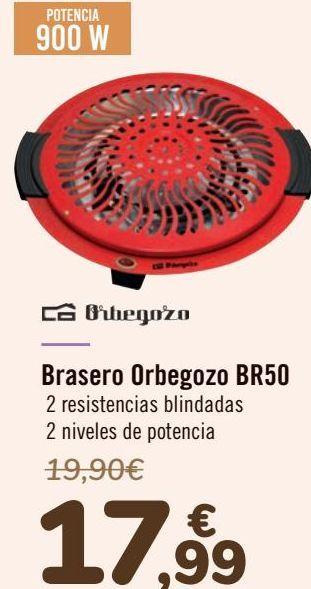 Oferta de Brasero Orbegozo BR50  por 17,99€