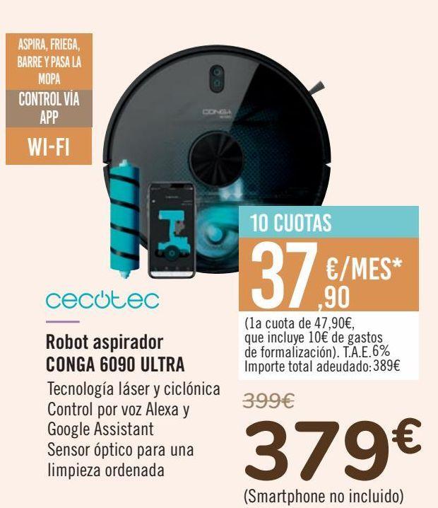 Oferta de CECOTEC Robot aspirador CONGA 6090 ULTRA  por 379€