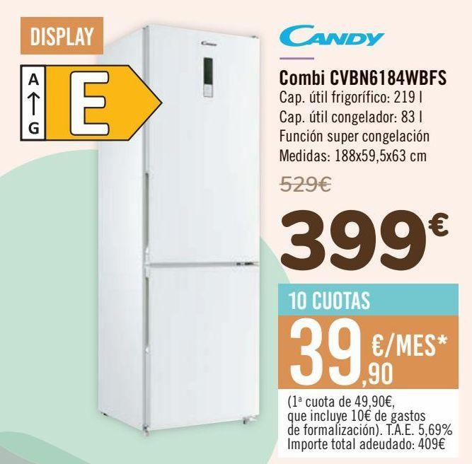 Oferta de CANDY Combi CVBN6184WBFS por 399€