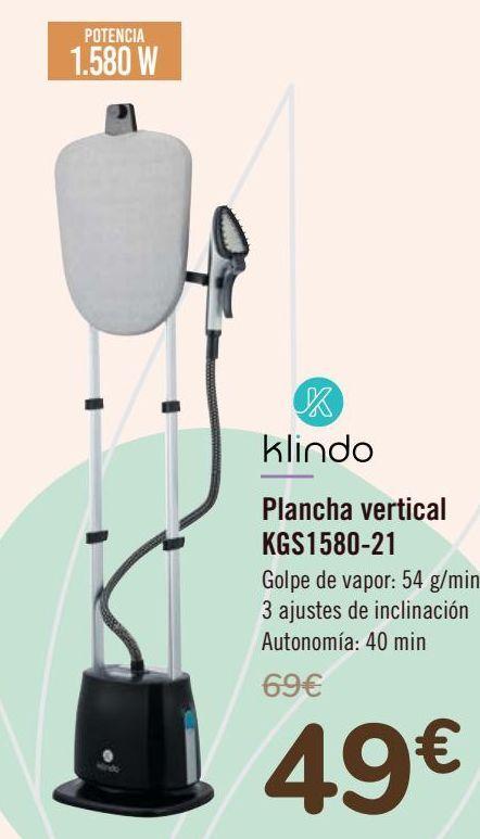 Oferta de Klindo Plancha vertical KSG1580-21 por 49€
