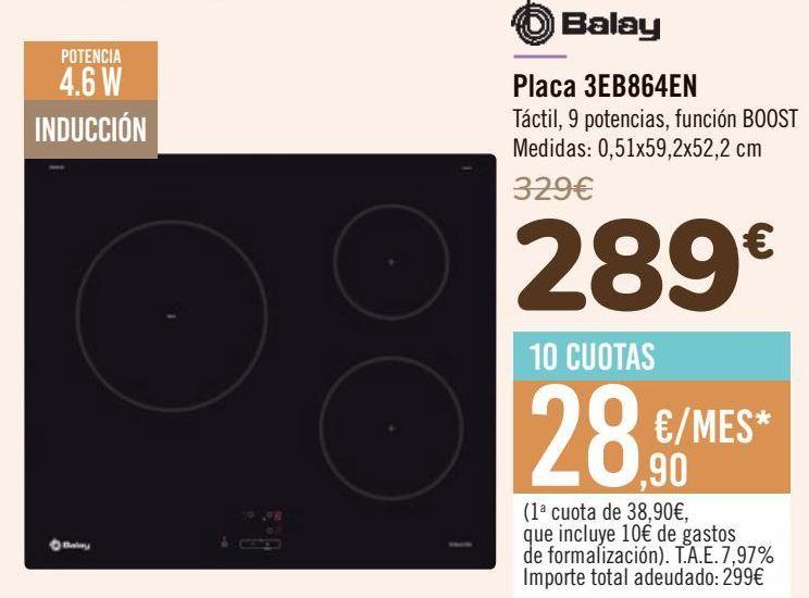 Oferta de Balay Placa 3EB864EN  por 289€
