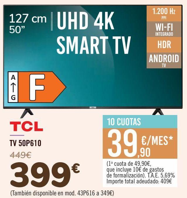 Oferta de TCL TV 50P610 por 399€