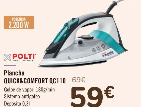Oferta de POLTI Plancha QUIK&COMFORT QC110  por 59€