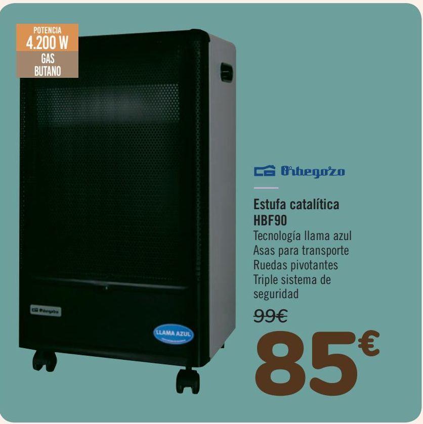 Oferta de Orbegozo Estufa Catalítica HBF90 por 85€