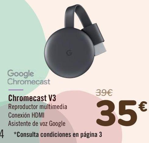 Oferta de Google Chromecast  por 35€