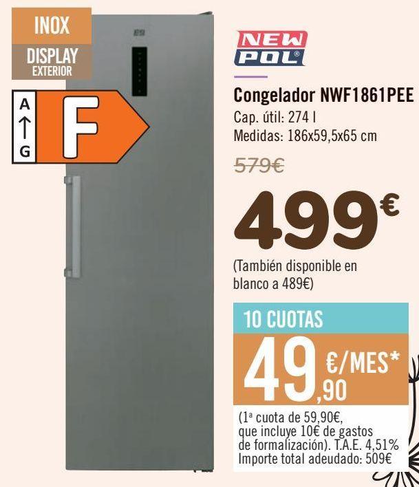 Oferta de Congelador NWF1861PEE por 499€
