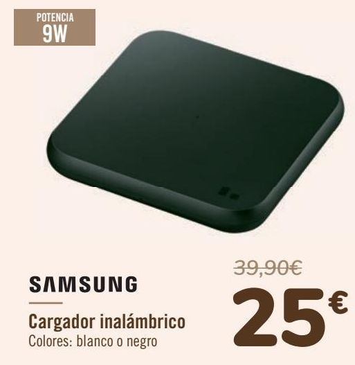 Oferta de SAMSUNG Cargador inalámbrico  por 25€