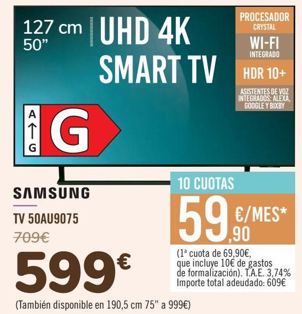Oferta de SAMSUNG TV 50AU9075 por 599€