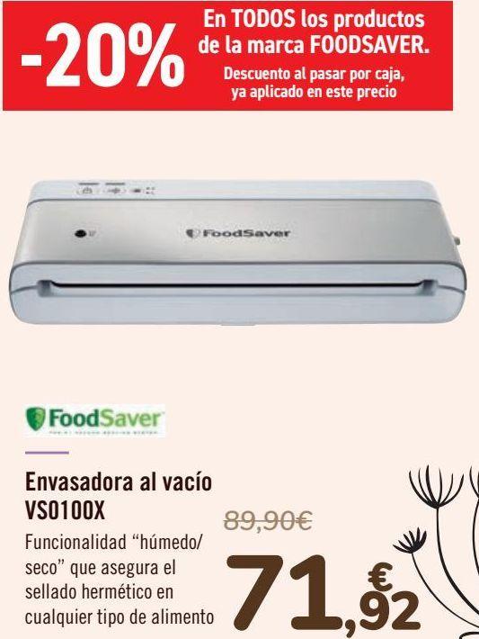 Oferta de FoodSaver Envasadora al vacío VS0100X  por 71,92€