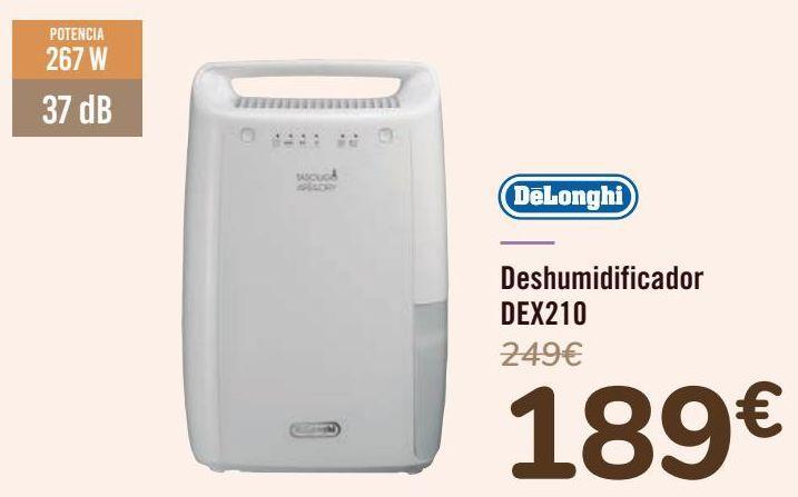Oferta de DëLonghi Deshumidificador DEX210  por 189€