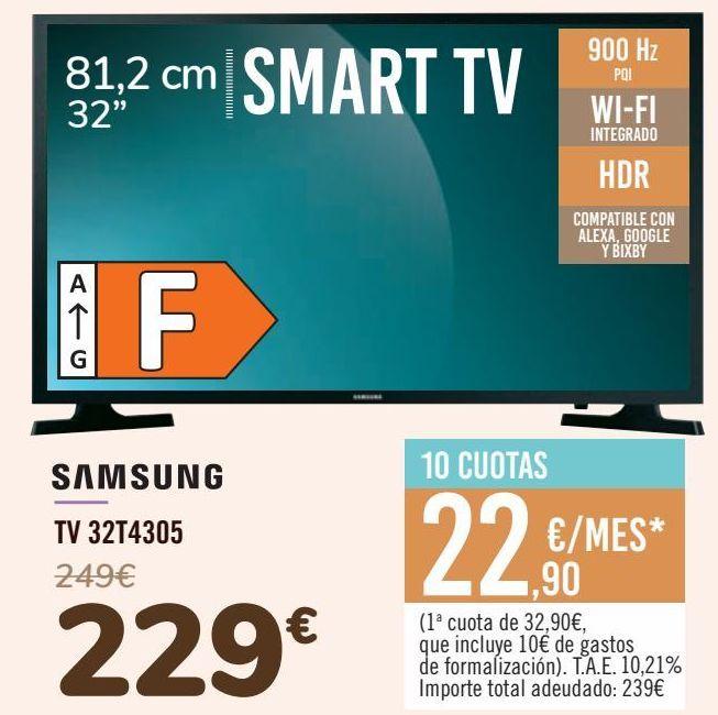 Oferta de SAMSUNG TV 32T4305 por 229€