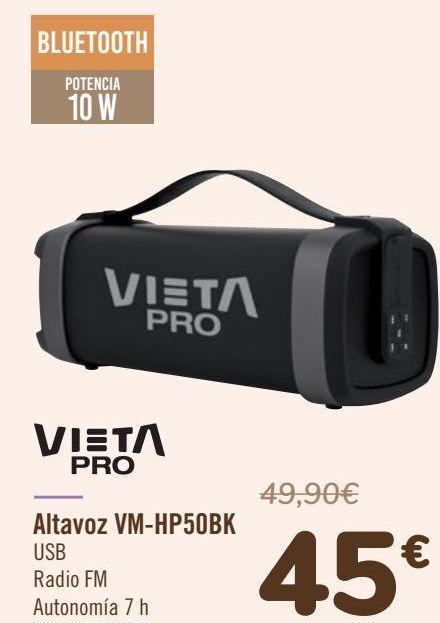 Oferta de VIETA PRO Altavoz VM-HP50BK por 45€