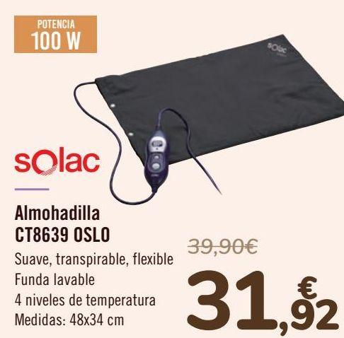 Oferta de Solac Almohadilla CT8639 OSLO  por 31,92€