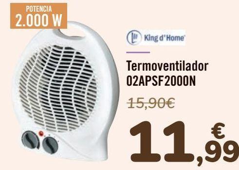 Oferta de King d'Home Termoventilador 02APSF2000N por 11,99€
