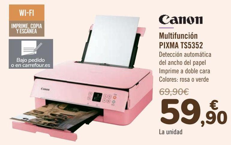 Oferta de Canon Multifunción PIXMA TS5352 por 59,9€