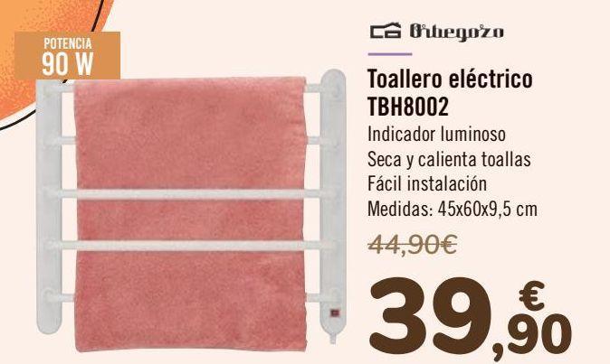 Oferta de Orbegozo Toallero eléctrico TBH8002  por 39,9€