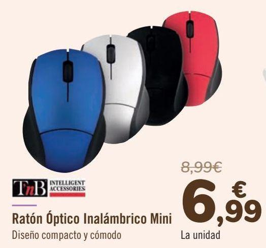 Oferta de TnB Ratón Óptico Inalámbrico Mini por 6,99€