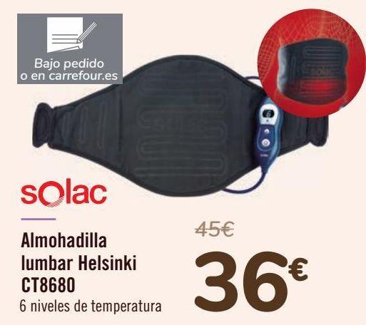 Oferta de Solac Almohadilla lumbar Hesinki CT8680 por 36€