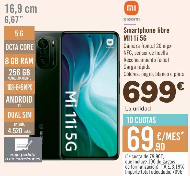 Oferta de XIAOMI Smartphone libre MI11i 5G por 699€