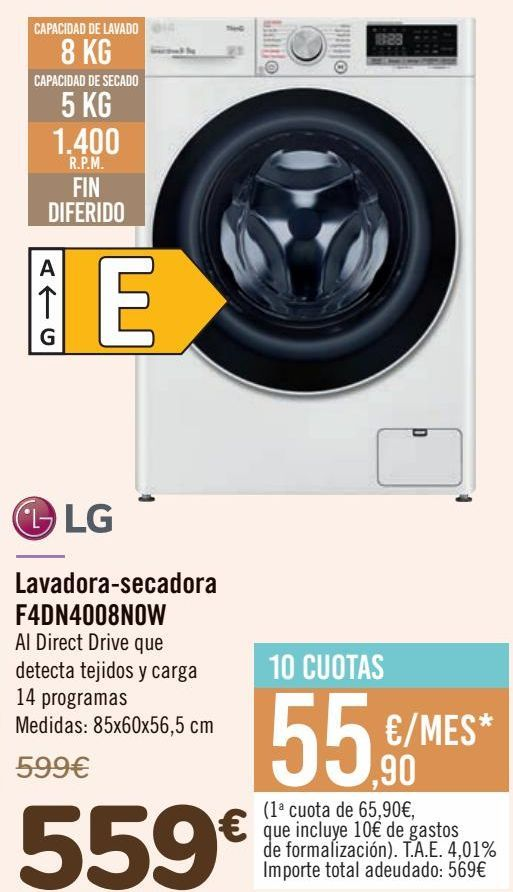 Oferta de Lavadora-secadora F4DN4008NOW  por 559€