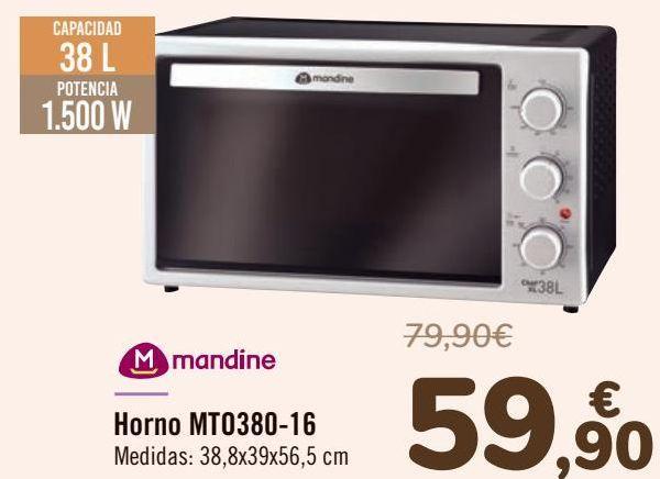 Oferta de Mandine Horno MT0380-16  por 59,9€