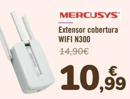 Oferta de MERCURYS Extensor cobertura WIFI N300 por 10,99€