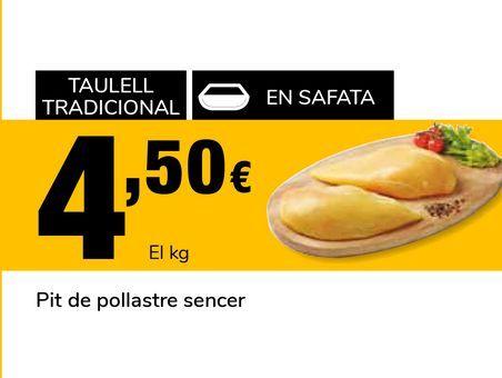 Oferta de Pechuga de pollo entera  por 4,5€