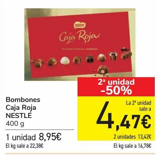 Oferta de Bombones Caja Roja NESTLÉ  por 8,95€