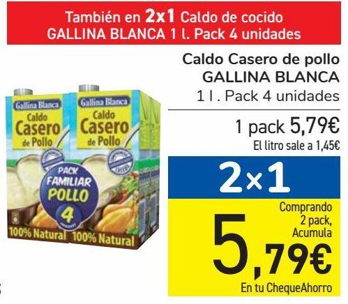 Oferta de Caldo casero de pollo GALLINA BLANCA  por 5,79€
