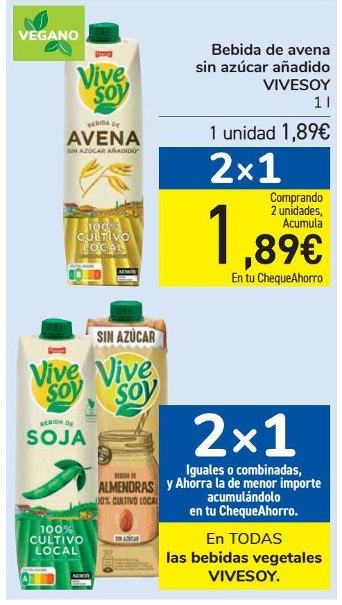 Oferta de En TODAS las bebidas vegetales VIVESOY  por