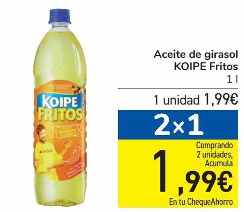 Oferta de Aceite de girasol KOIPE Fritos por 1,99€
