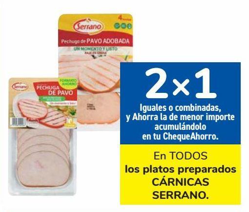 Oferta de En TODOS los platos preparados CÁRNICAS SERRANO  por