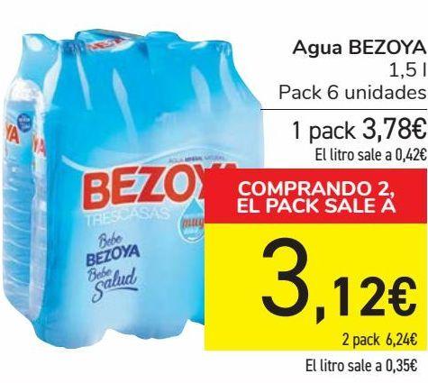 Oferta de Agua BEZOYA  por 3,78€