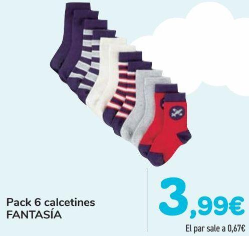 Oferta de Pack 6 calcetines FANTASÍA  por 3,99€