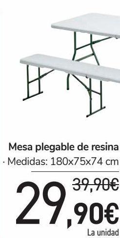 Oferta de Mesa plegable de resina  por 29,9€