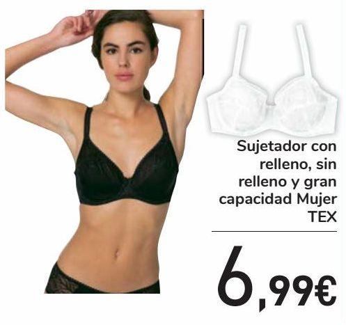 Oferta de Sujetador con relleno, sin relleno y gran capacidad Mujer TEX  por 6,99€